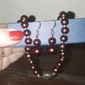 Necklace and earing set.